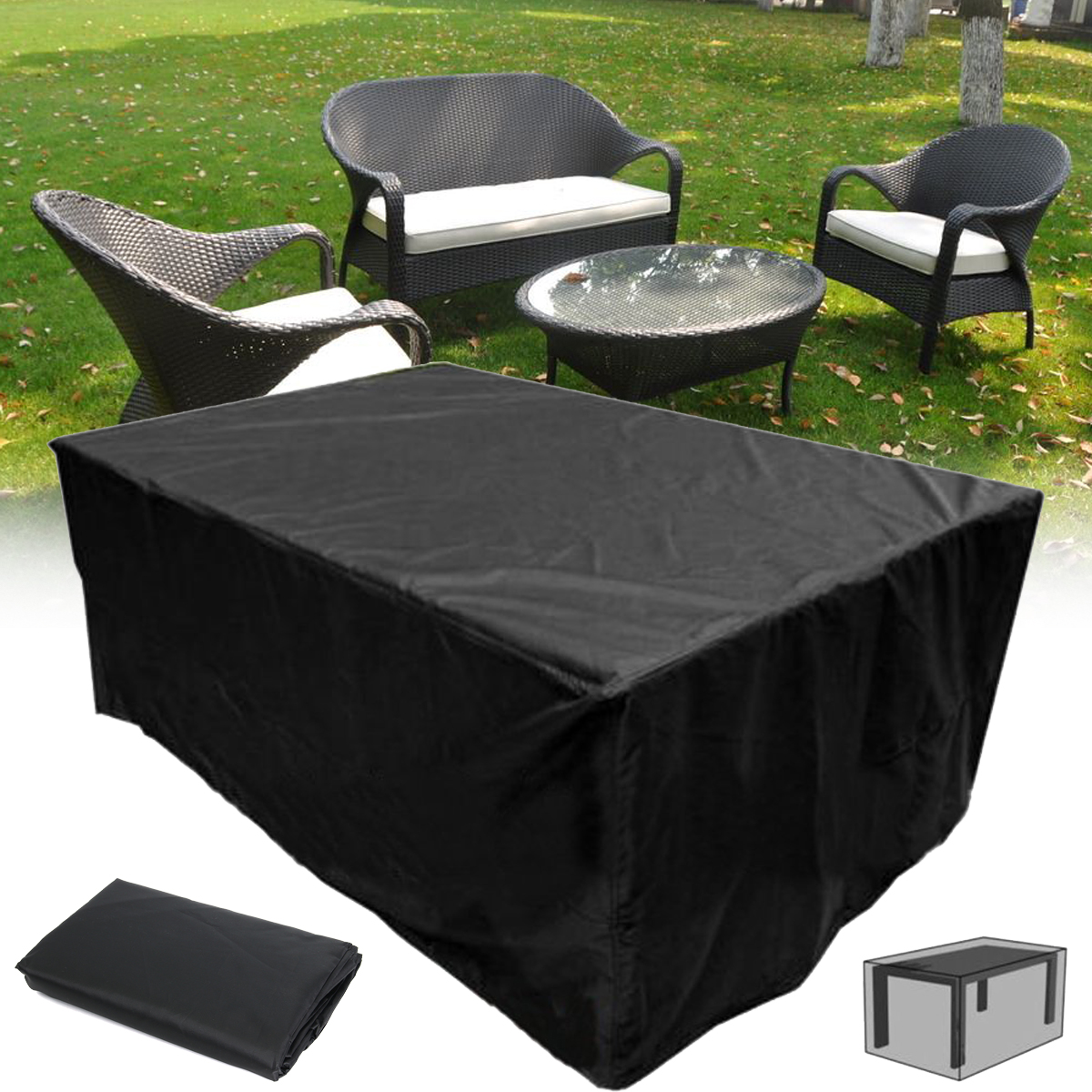 waterproof outdoor chair covers australia desk ebay uk 210x110x70cm garden patio furniture
