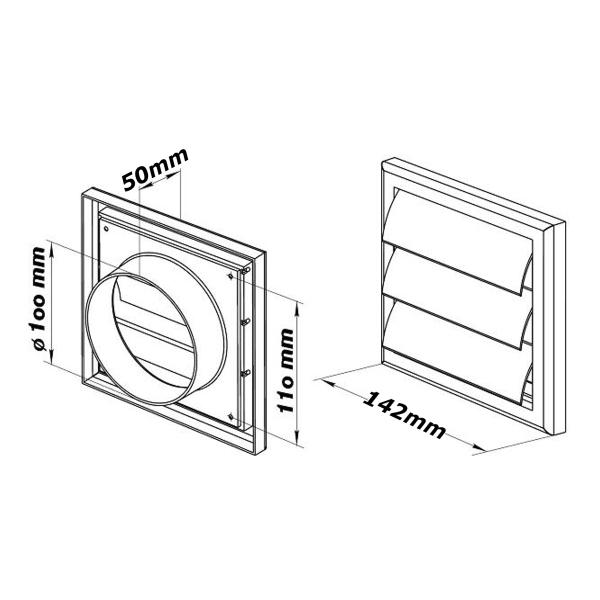 Plastic Ventilator Cover Air Vent Grille Ventilation Cover
