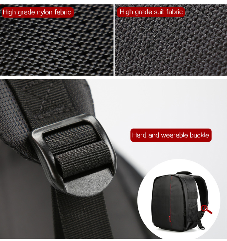HUWANG 7460 Waterproof Multi-functional DSLR Video Photo Digital Camera Bag Padded Backpack 15