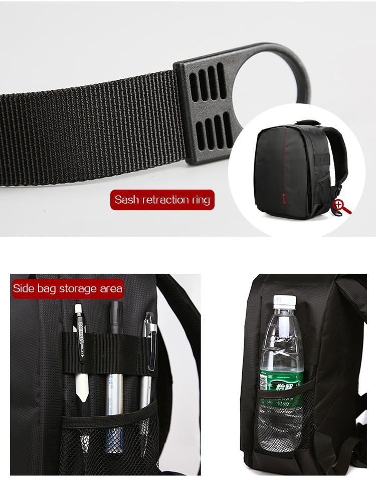 HUWANG 7460 Waterproof Multi-functional DSLR Video Photo Digital Camera Bag Padded Backpack 16