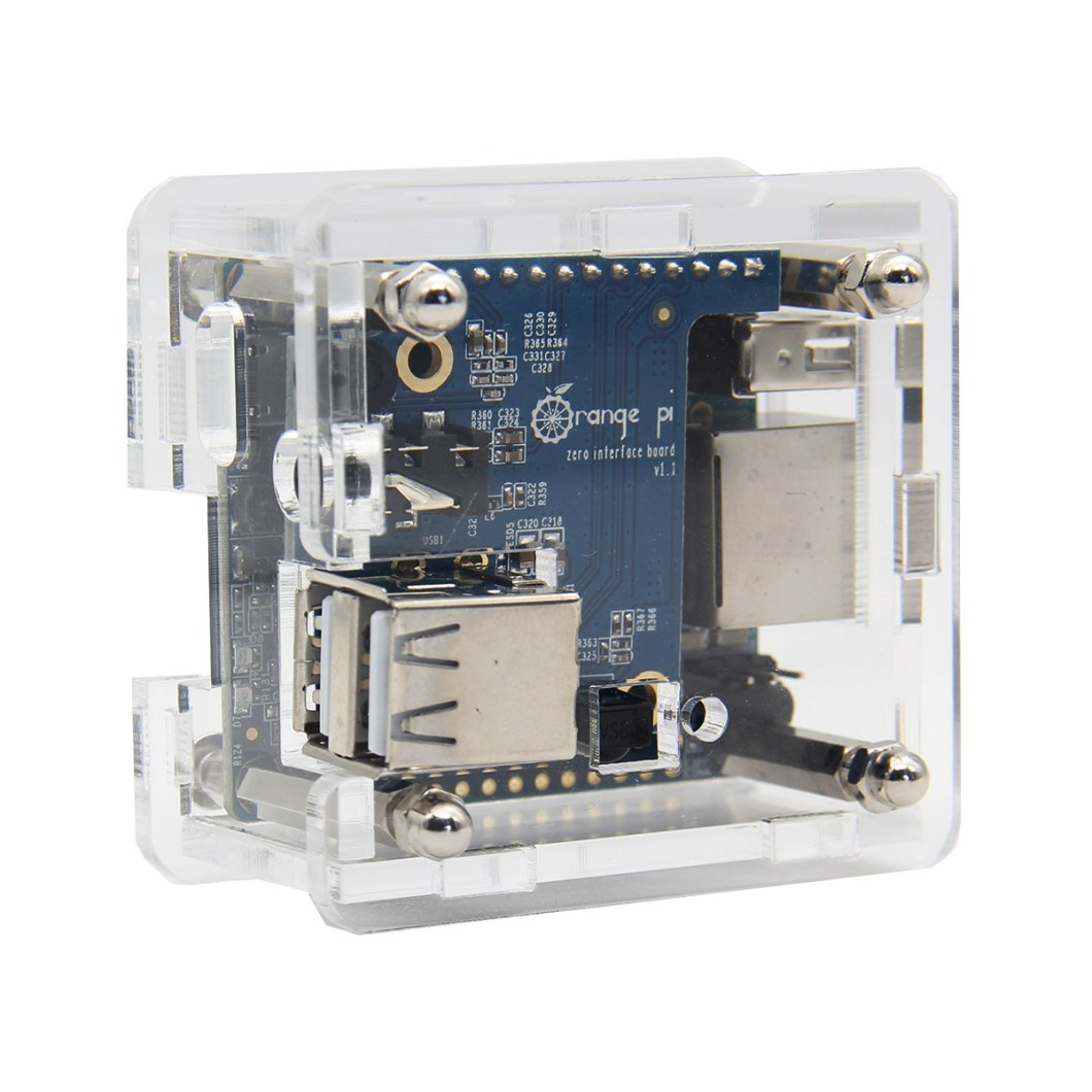 Acrylic Transparent Case Shell For Orange Pi Zero / Zero With Expansion Board 8
