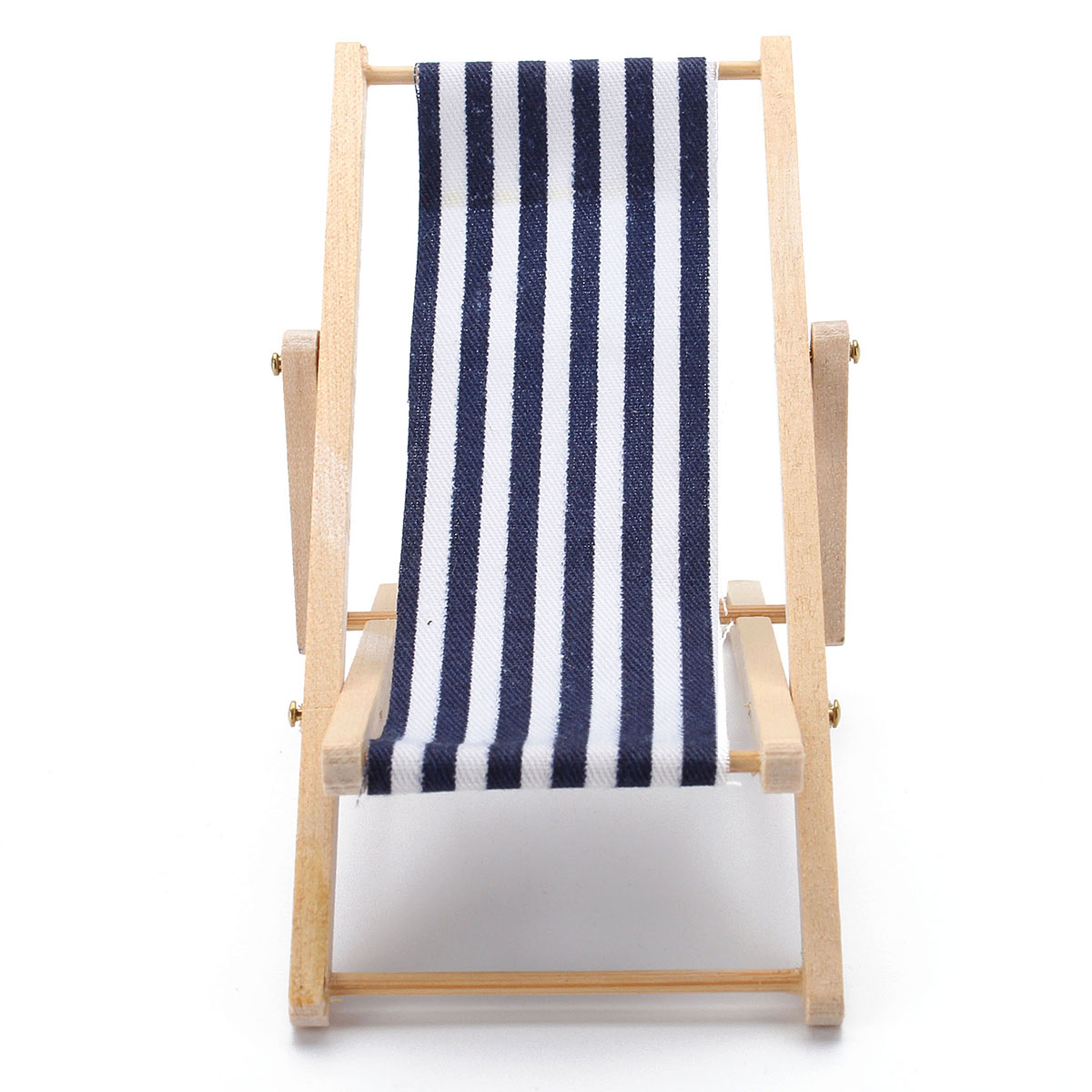 mini beach chair picture frames swing seat under pergola 1 12 blue white chaise longue foldable