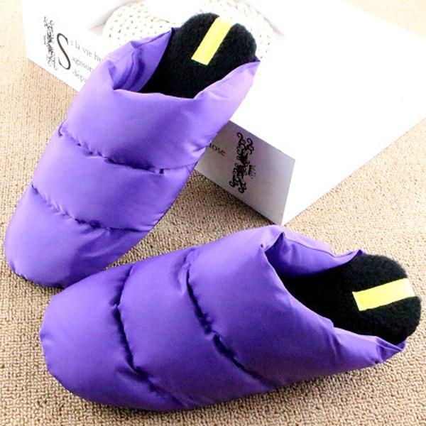 Slip On Down Warm Winter Home Indoor Slippers