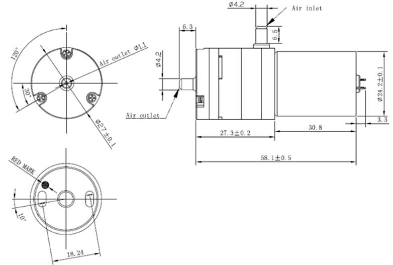 DC 3.7V Vacuum Pump Micro Air Pump with 5V Solenoid Valve