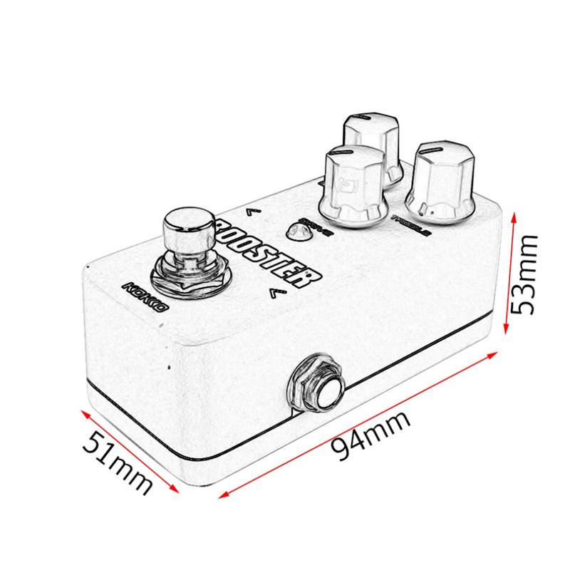 KOKKO FBS2 Mini Pedal Booster 2-Band EQ Electric Guitar