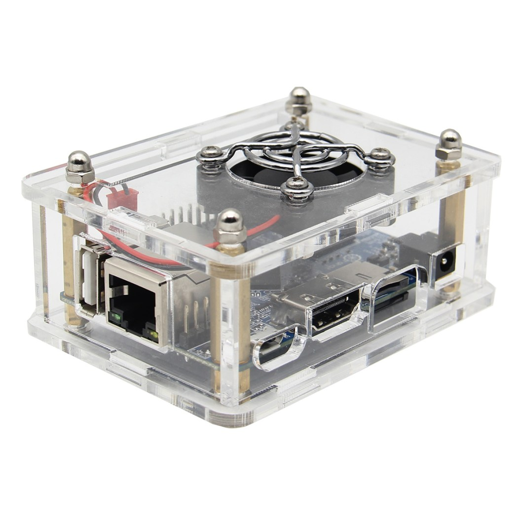 3-in-1 Orange Pi One  512MB H3 Quad-core Development Board + Acrylic Case + Cooling Fan Heat Sink 9