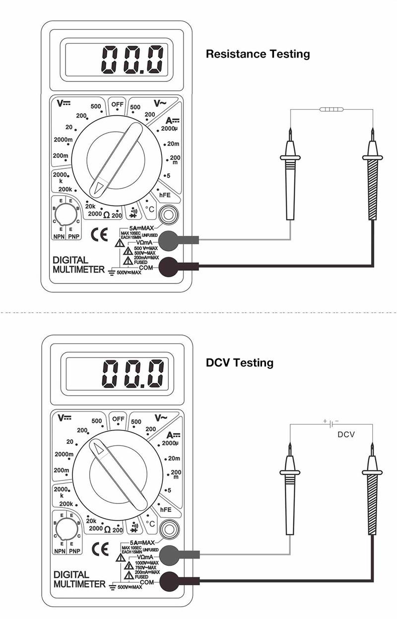 WHDZ DT838 LCD Digital Multimeter AC DC Voltage Current