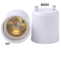 GU24 to E27 LED Light Base Bulb Lamp Holder Adapter Socket ...