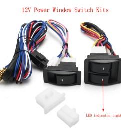 6pcs 12v universal power window switch kits with wiring diagram power window switch power window switch wiring diagram [ 1200 x 1200 Pixel ]