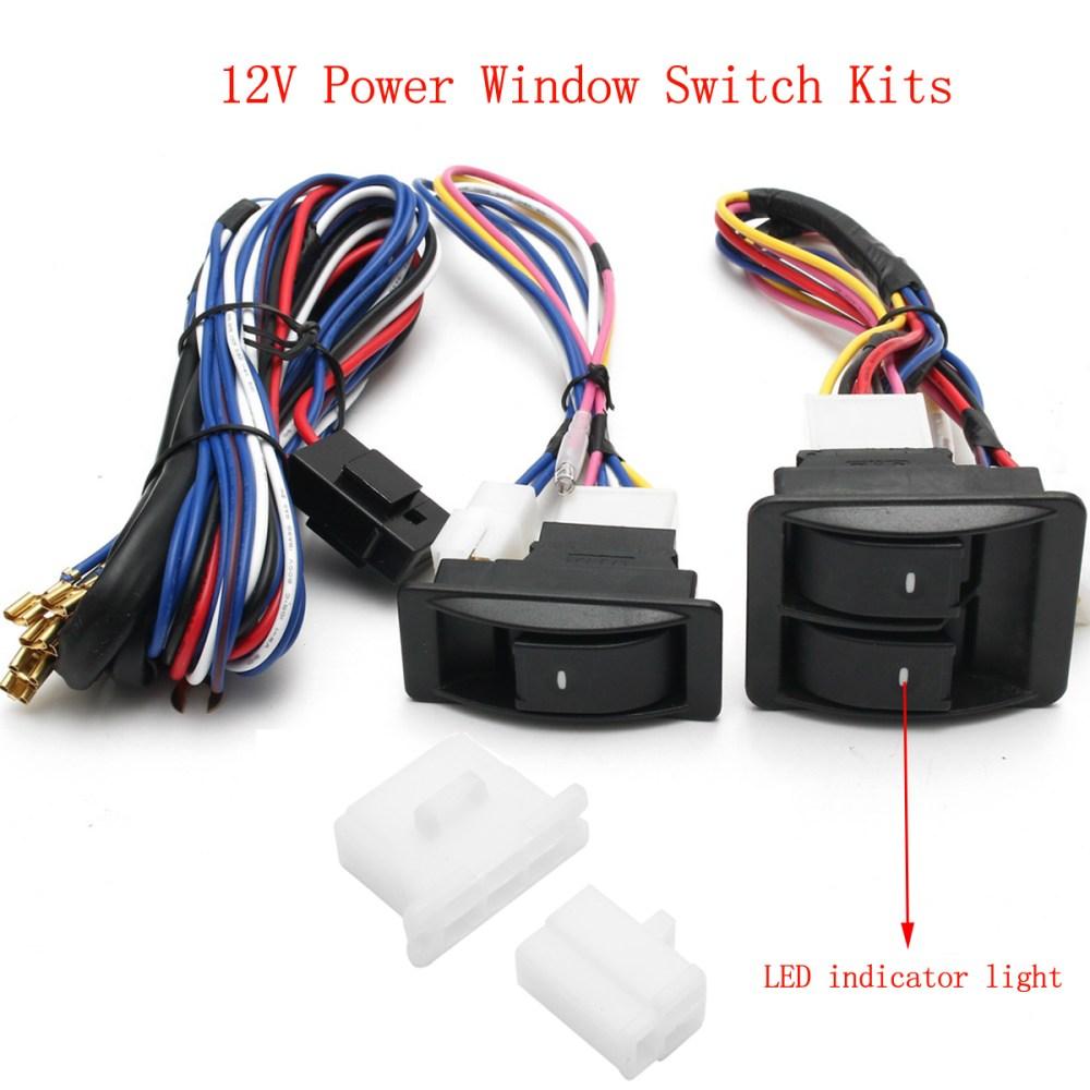 medium resolution of 6pcs 12v universal power window switch kits with wiring diagram power window switch power window switch wiring diagram