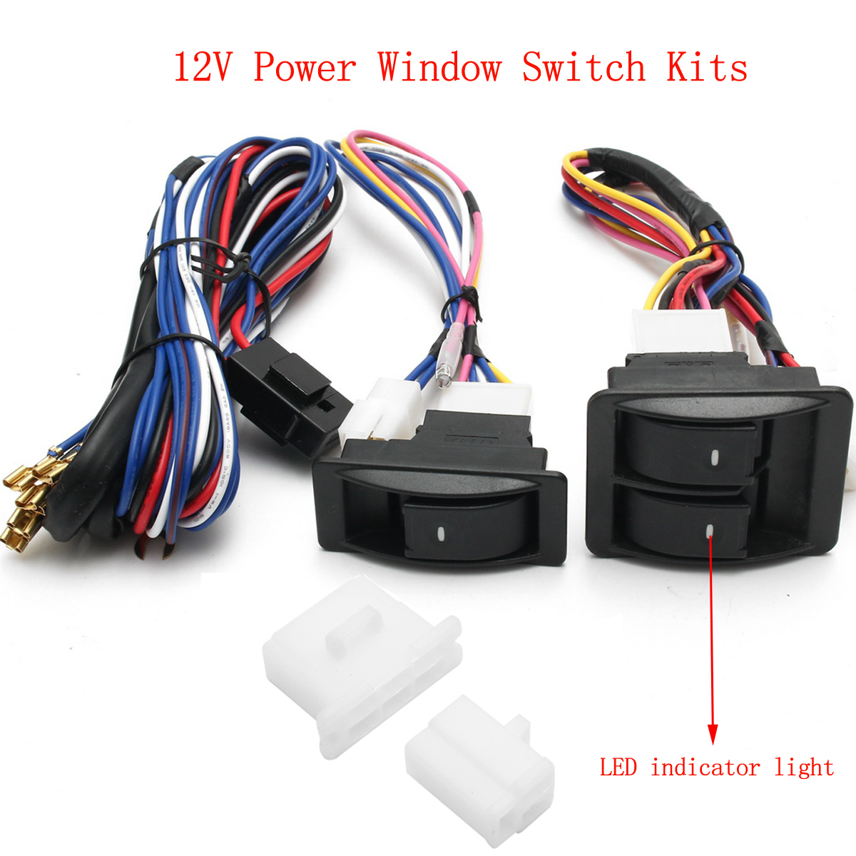 hight resolution of 6pcs 12v universal power window switch kits with wiring diagram power window switch power window switch wiring diagram