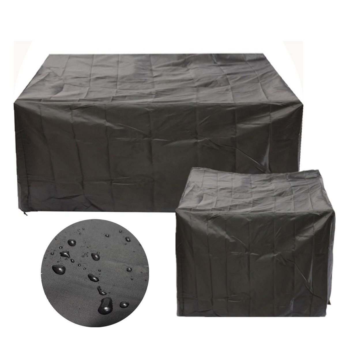 waterproof outdoor chair covers australia sling lounge 2 size black polyester pvc sofa couch table