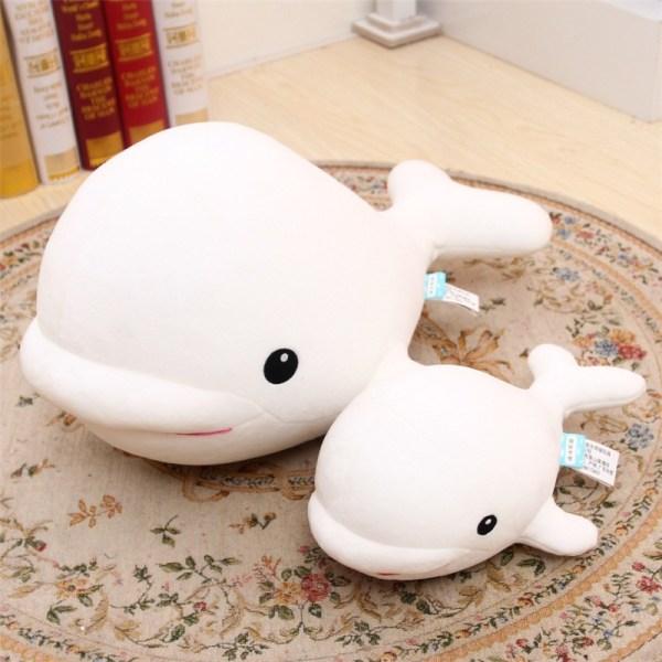 1pcs Cute Beluga White Whale Soft Animal Doll Ornament