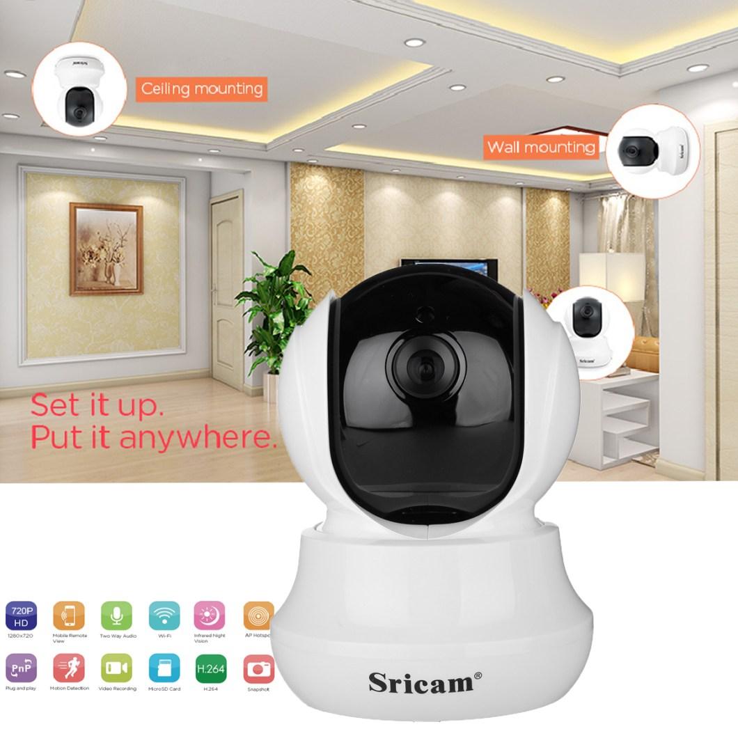 Sricam SP020 Wireless 720P IP Camera Pan&Tilt Home Security PTZ IR Night Vision WiFi Webcam 14