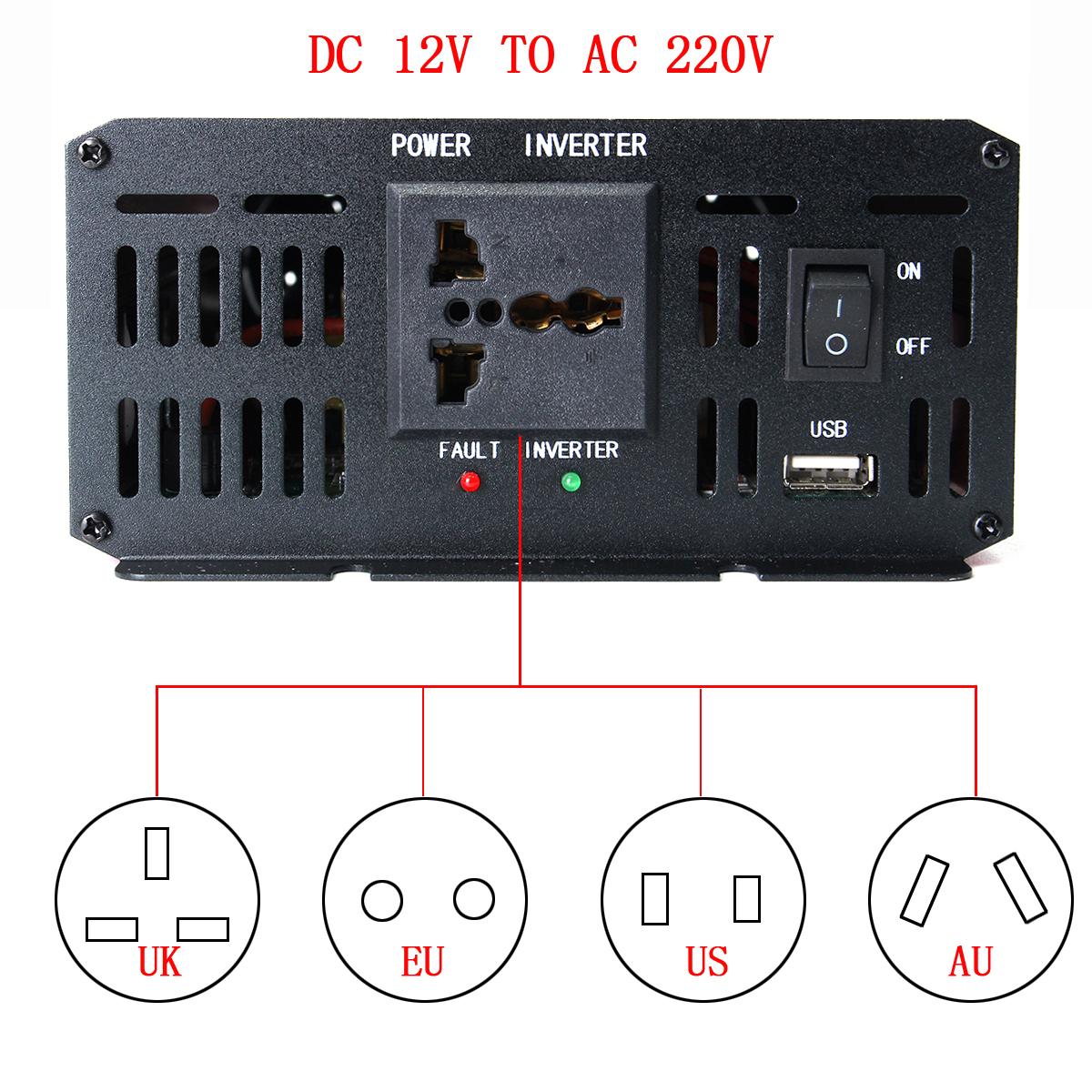dc to ac inverter diagram 2001 nissan frontier wiring 2500w car 12v 220v power converter