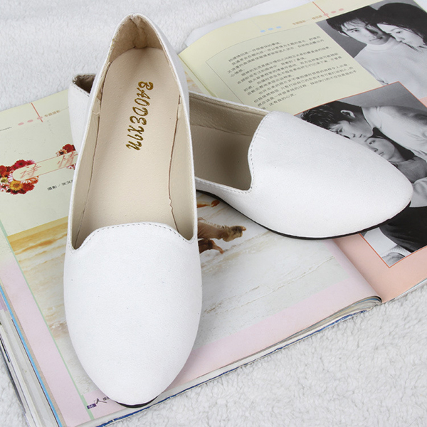US Size 5-11 Women Flats Comfortable Casual Slip On Pointed Toe Suede Flat Loafers Shoes