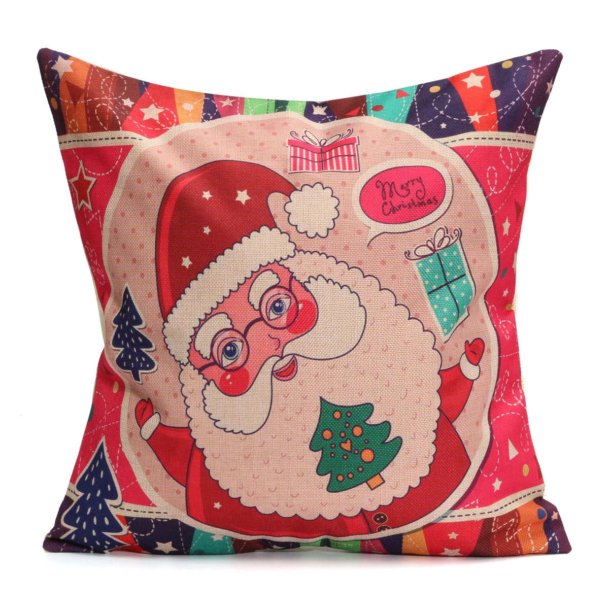 santa chair covers australia outdoor plastic chairs kmart christmas cotton linen pillow case cushion cover