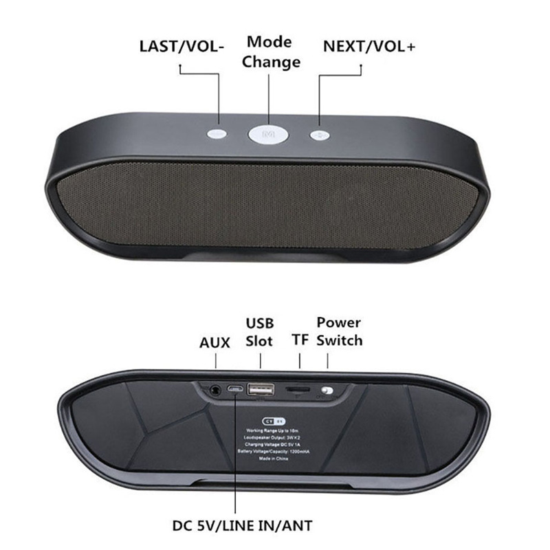 CY-01 Wireless Bluetooth Speaker 3D Stereo TF Card USB Play Outdoors Subwoofer for iPhone Xiaomi 42