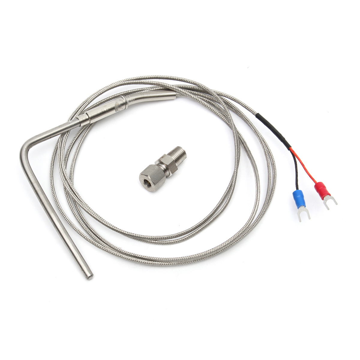 2m Exhaust Gas Temp Sensor Egt K Type Thermocouple Probe