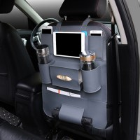 Car Back Seat Multi Pocket Phone Cup Holder PU Leather ...
