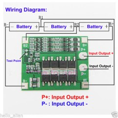 Bms System Wiring Diagram Leeson 3 4 Hp 3s 11 1v 25a 18650 Li Ion Lithium Battery Protection