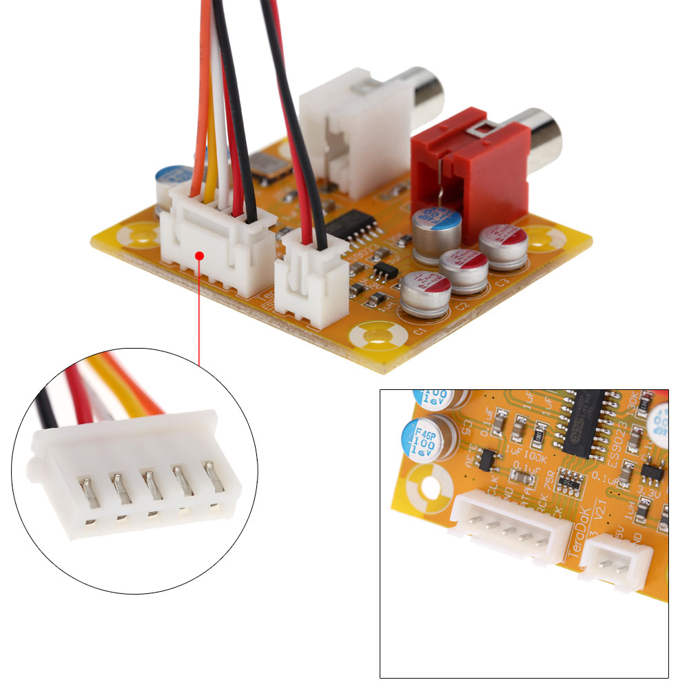 DAC Sabre ES9023 Analog I2S 24 Bit 192 KHz Decoder Board For Raspberry Pi