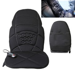 Massage Pads For Chair How Are Chairs Made Heated Back Cushion Massager Car Seat Home