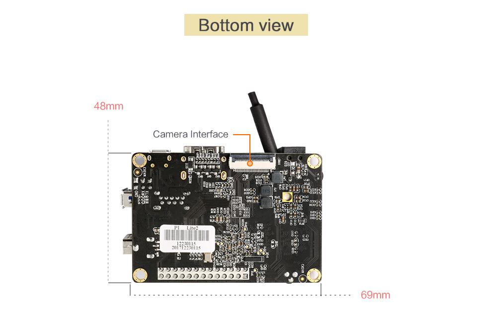 Orange Pi Lite2 H6 1GB USB3.0 Bluetooth4.1 Quad-core 64bit Development Board Support Android7.0 Mini PC 6