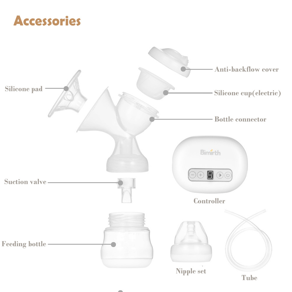 Bimirth Portable Mini Electric Breast Pump Set Nipple Milk