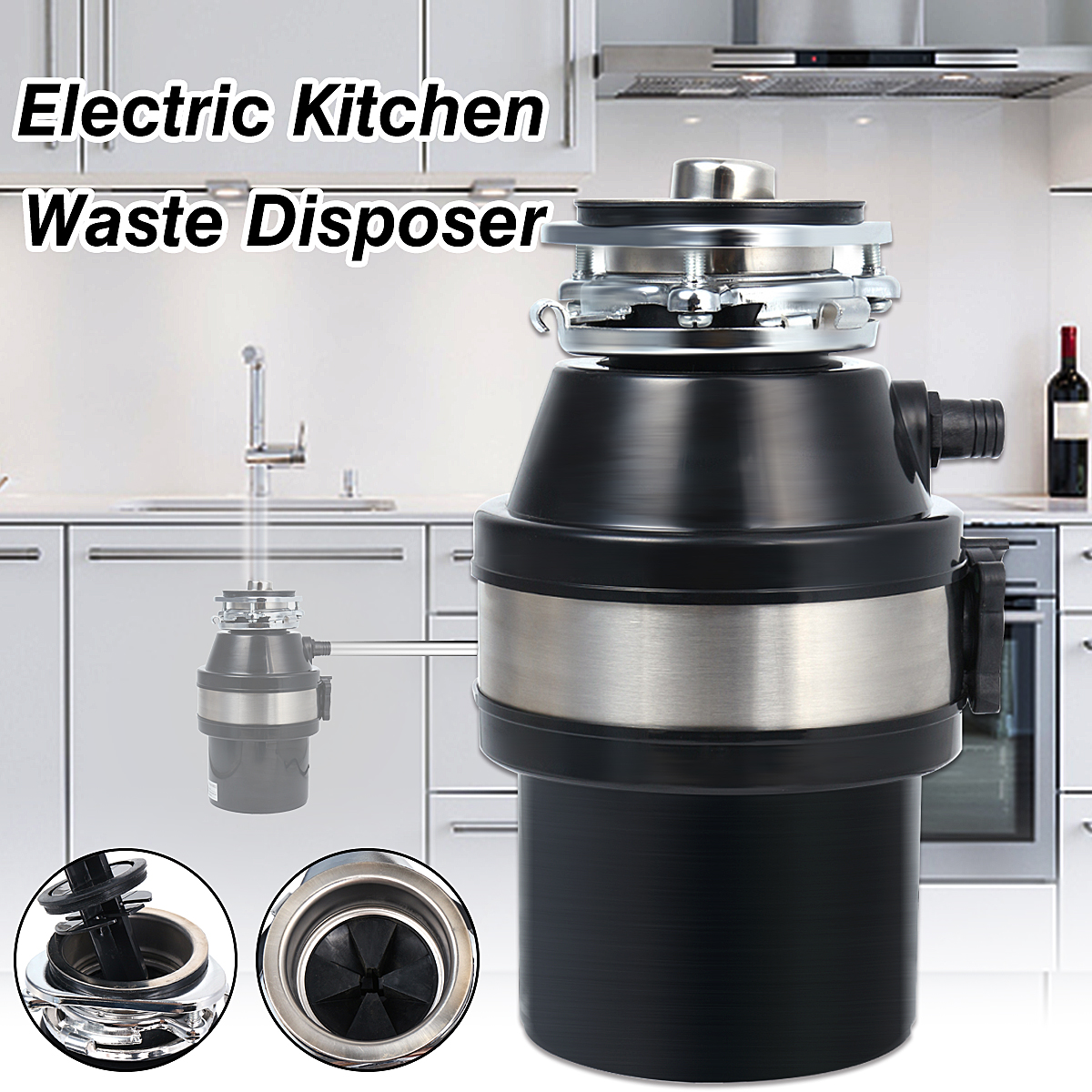 kitchen waste disposal barn sinks for 370w 220v disposer food garbage sink