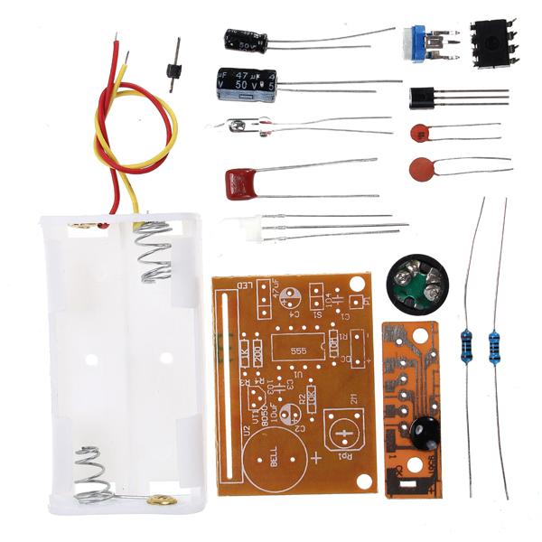 3Pcs DIY Touch Vibration Alarm Kit Electronic Training Teaching 15