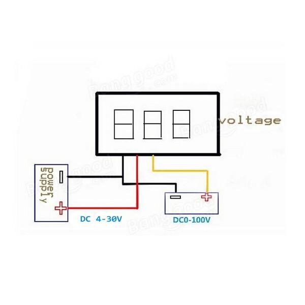 DC 0-100V 0.36inch LED Car Auto Voltmeter Gauge Voltage