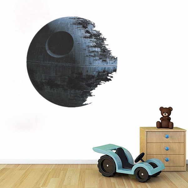 45cm Removable Death Star Wars Wall Stickers Art Vinyl Decal Kids Bedroom Home Wall Decoration ...