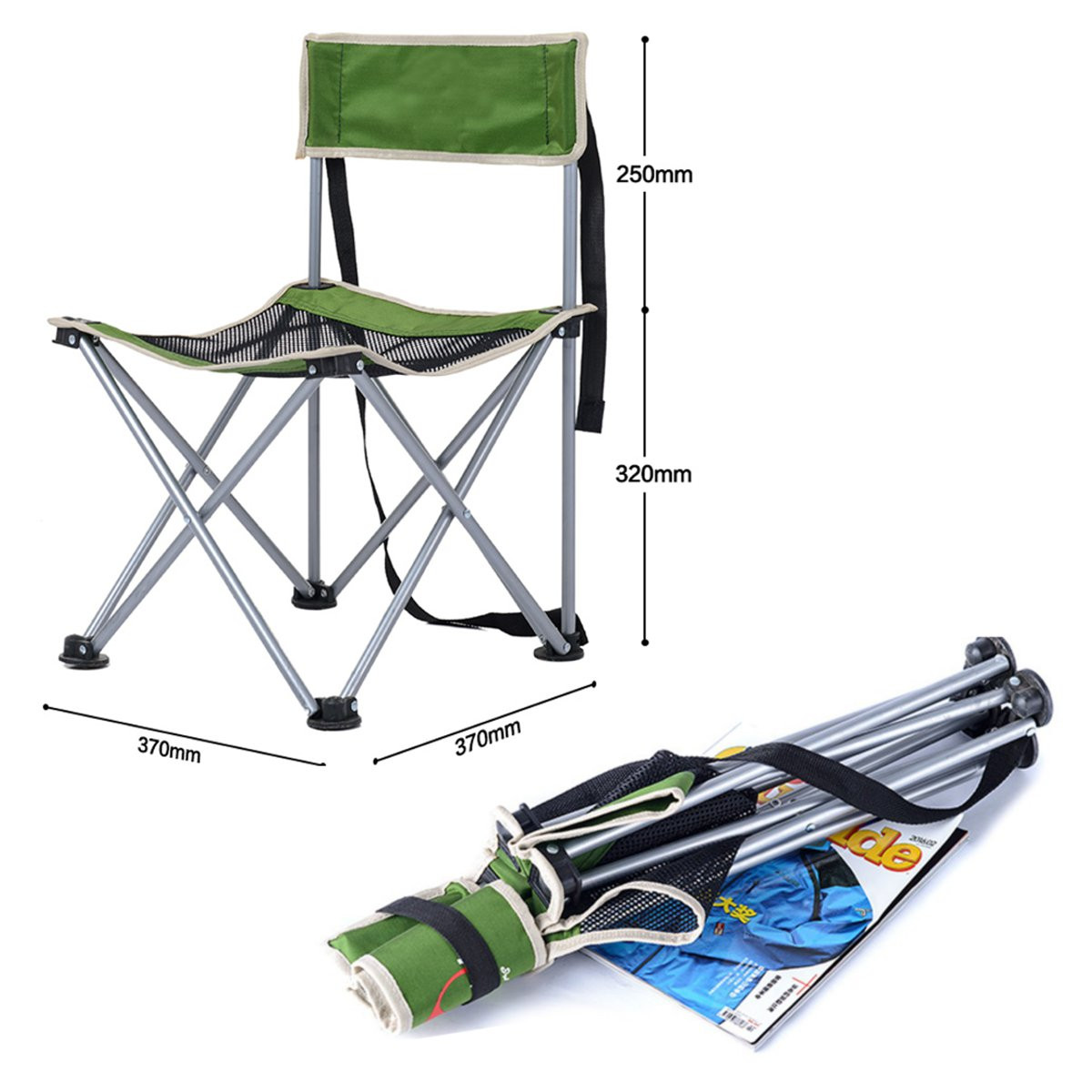 camping chair accessories grey glider outdoor portable folding lightweight fishing