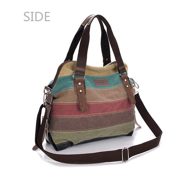 Side Of Canvas Stripe Bags