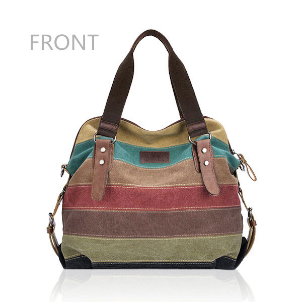 Front Of Canvas Stripe Bags