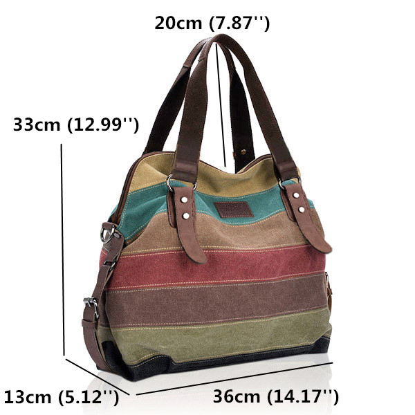 Size Of Canvas Stripe Bags