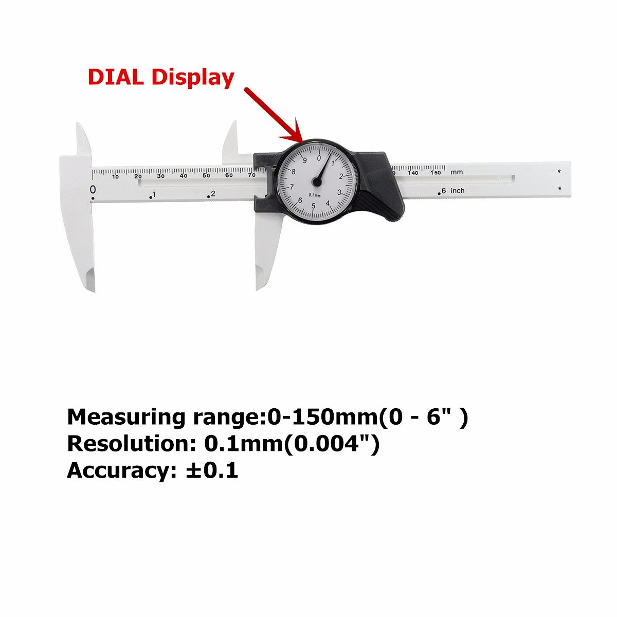 6inch 150mm Scale Dial Vernier Caliper Metric Measurement