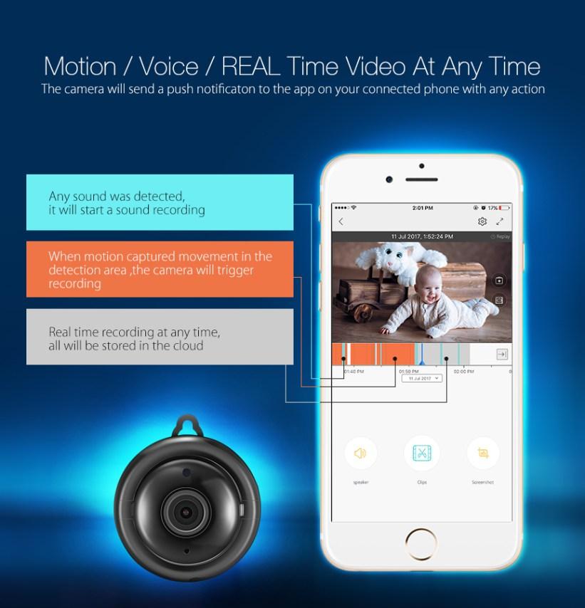Digoo 720P Cloud Storage Smart Home Security WiFi IP Camera Baby Monitor  Onvif