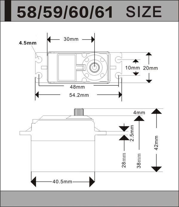 4X JX Servo PDI-HV5932MG 30KG Large Torque 180° High