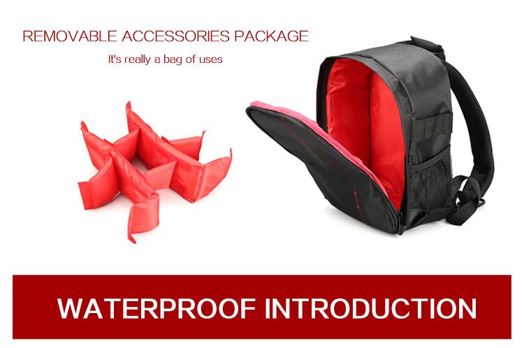 HUWANG 7460 Waterproof Multi-functional DSLR Video Photo Digital Camera Bag Padded Backpack 11