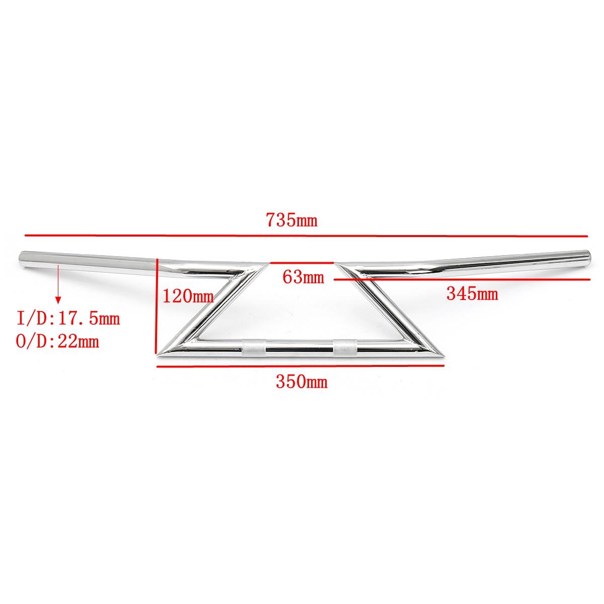 22mm 7/8inch Drag Handlebar Z-Bar For Honda/Yamaha/Suzuki