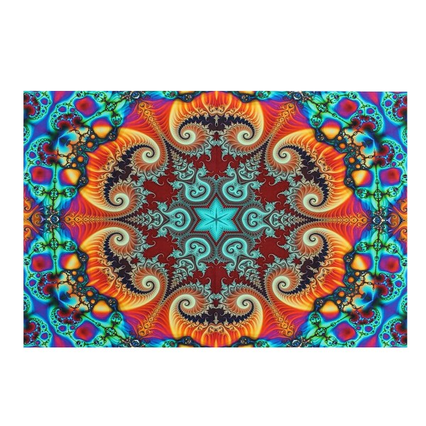 36 Inches Visual Puzzle Silk Poster Psychedelic