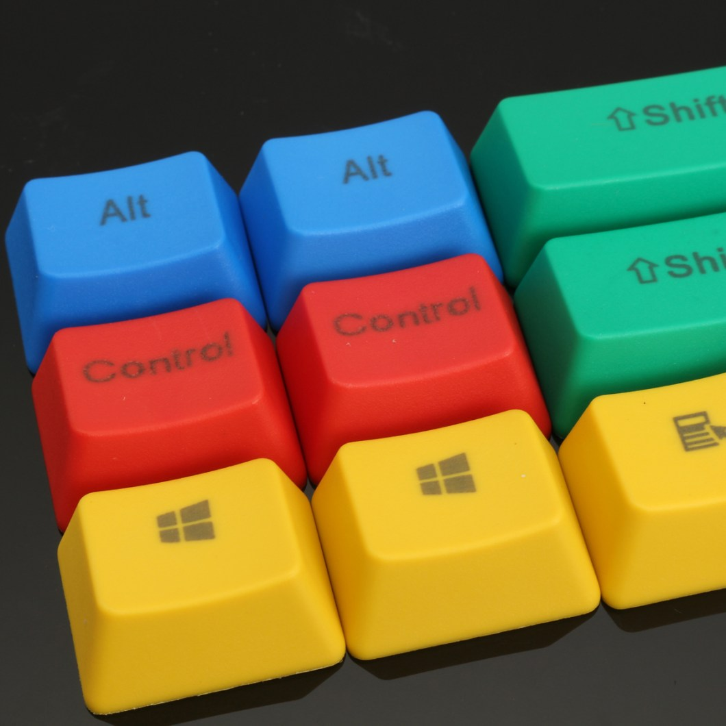 10Pcs RGBY ANSI PBT Thick Keycap Key Caps for Mechanical Gaming Keyboard 8
