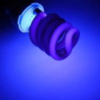 UV Ultraviolet Spiral Low Energy Saving CFL Light Bulb E27 ...