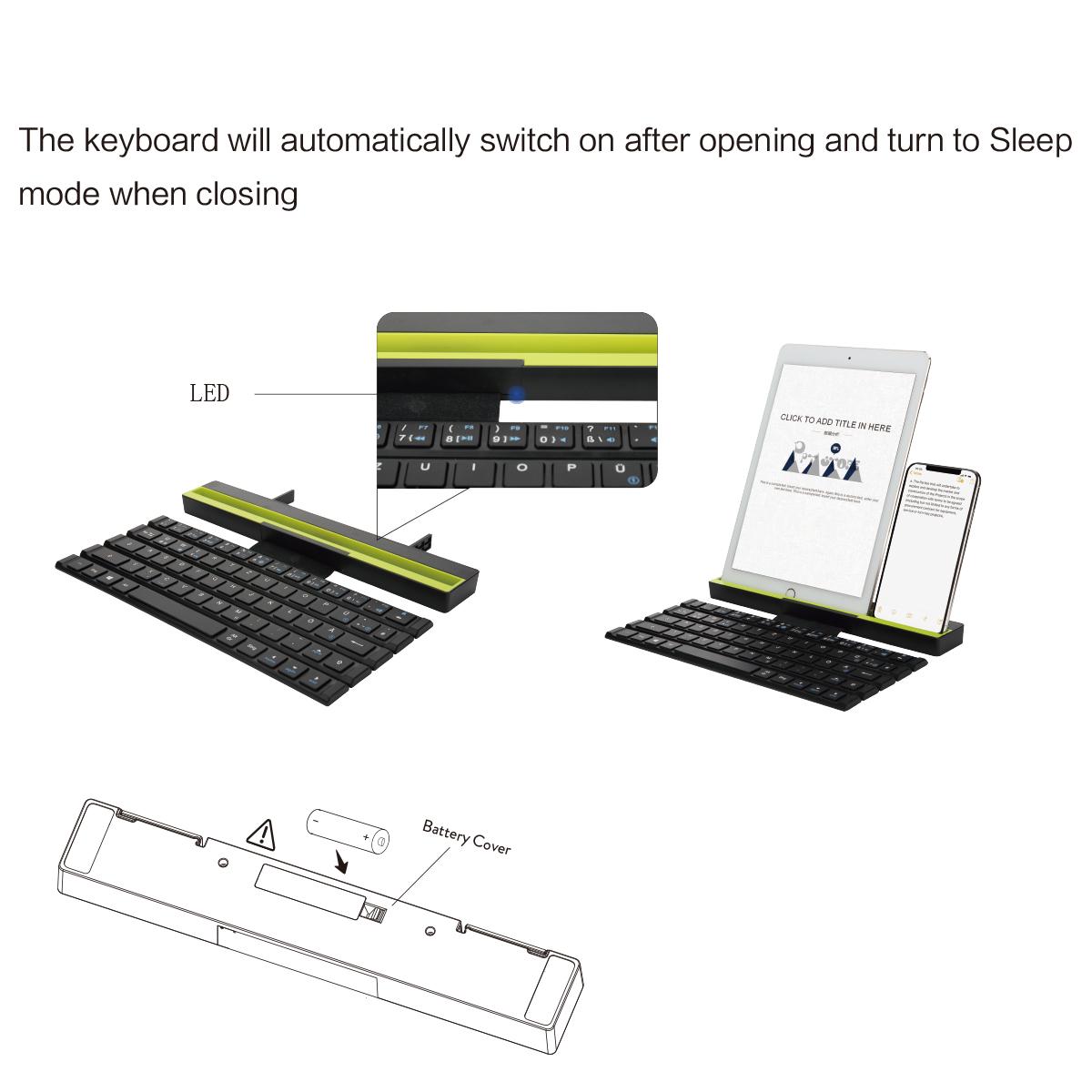 Rock Rollable Bluetooth Keyboard For iPhone iPad Samsung