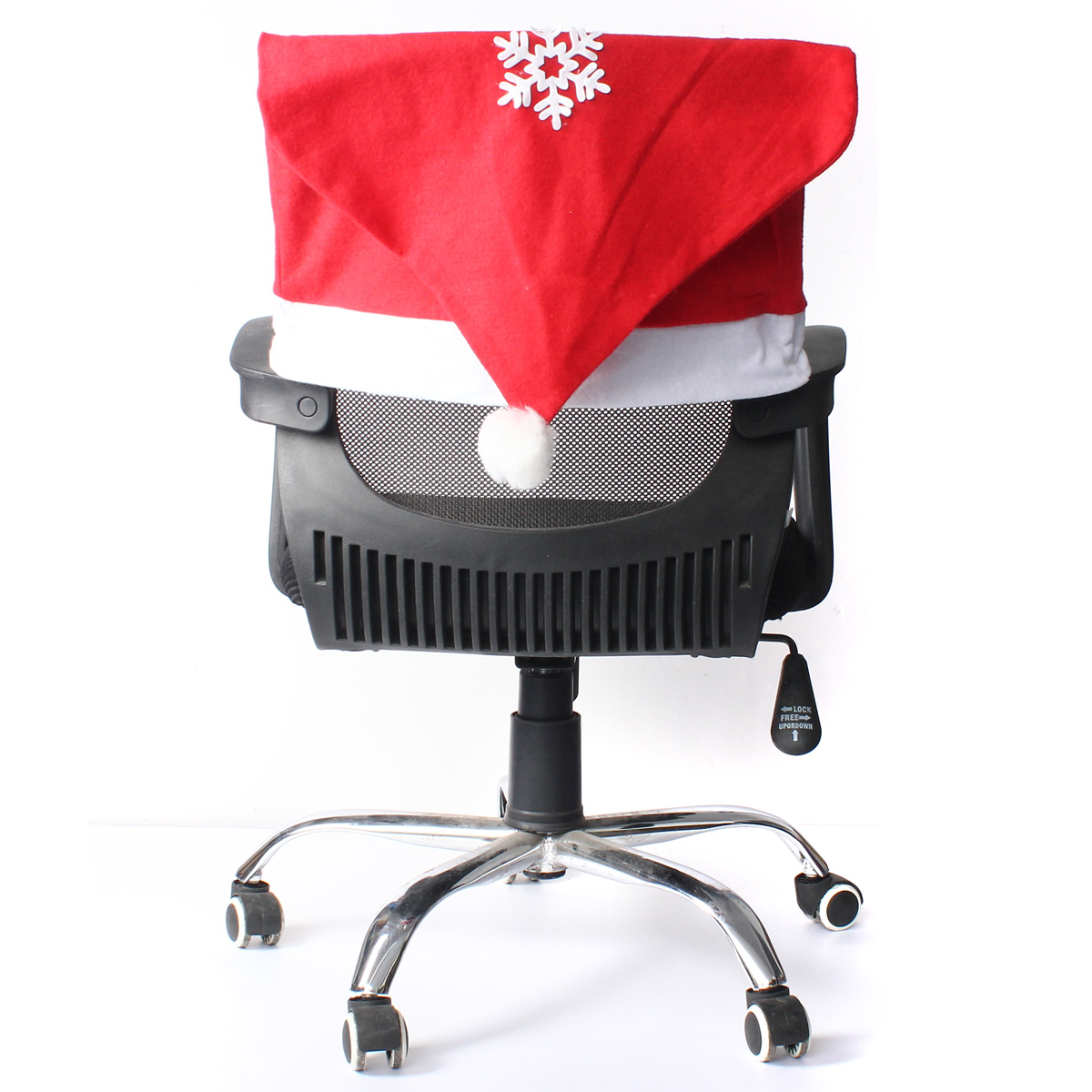 kitchen chair seat covers modern outdoor lounge chairs christmas snowflake decals cover dinner