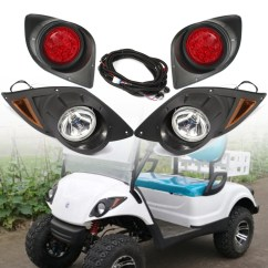 Golf Cart Headlights Toilet Repair Parts Diagram Halogen Headlight With Led Tail Light For Yamaha Drive G29