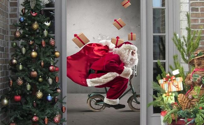 Christmas 2017 Funlife3d Door Stickers For Santa Claus