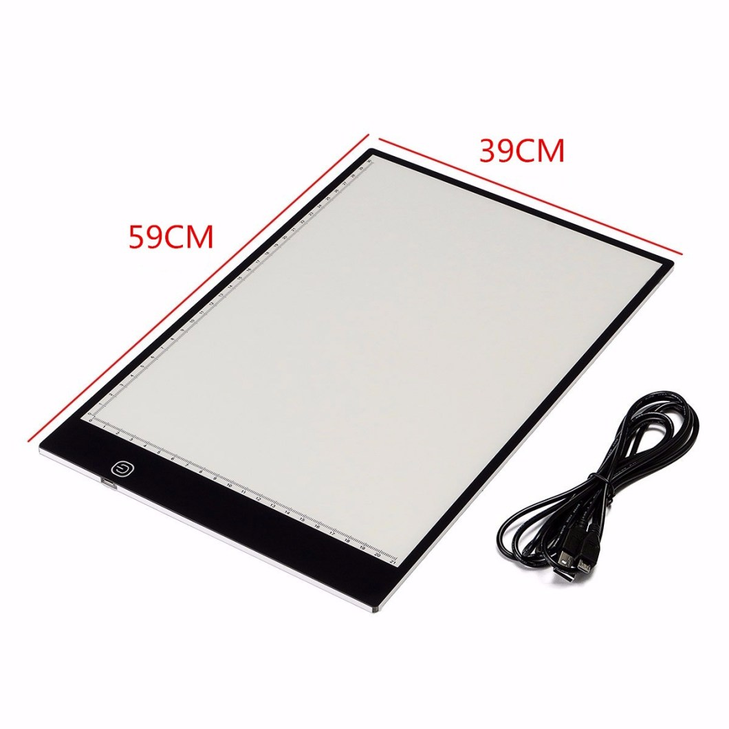 M.Way Ultra Thin A2 A3 LED Copy With USB Cable Adjustable Brightness Drawing Pad Copy board 15